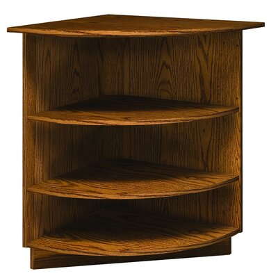 "Ironwood Library 3000 Radiused 38"" Corner Bookcase"