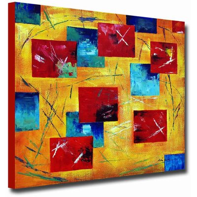 White Walls 'Colorful Canvas' Contemporary Canvas Art