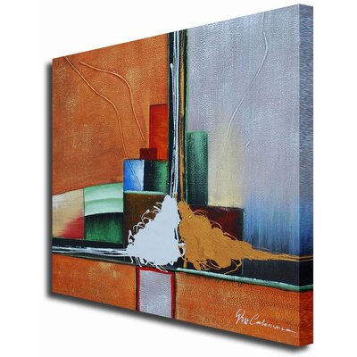 White Walls Abstract Anxiety Contemporary Canvas Art