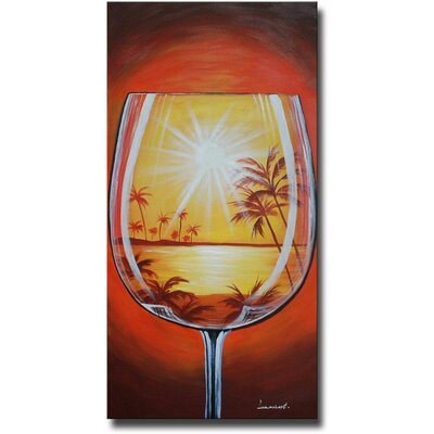 Tropical Glass Original Painting on Canvas