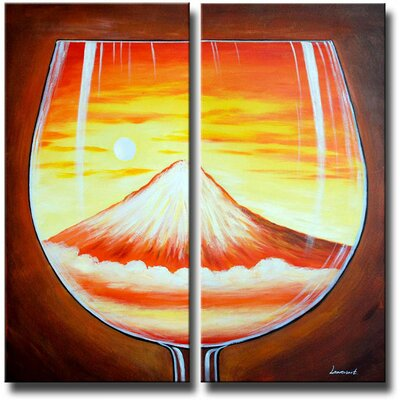 Glass Mountain 2 Piece Original Painting on Canvas Set