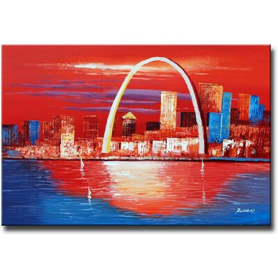 White Walls Hand Painted 'Gateway to the West' Canvas Art