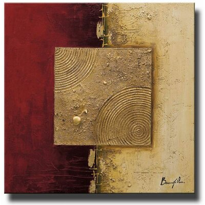 'Crimson Pearl' Canvas Art