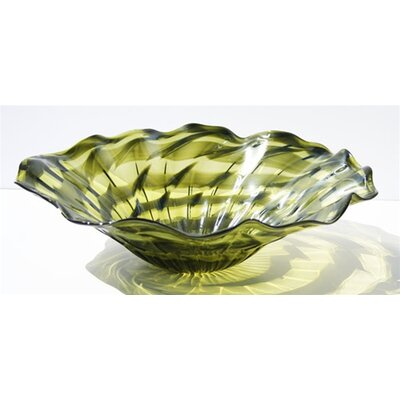 Hand Blown Decorative Dish in Green