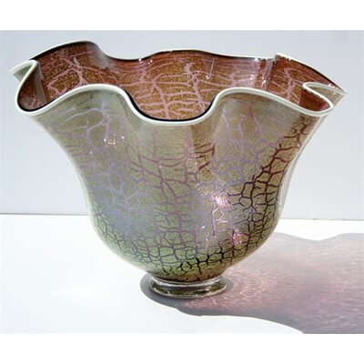 White Walls Hand Blown Cracked Glass Bowl