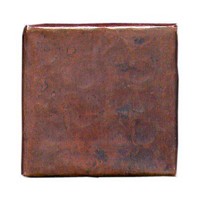 "D'Vontz Plain Hammered 2"" x 2"" Copper Border Tile in Dark Copper"