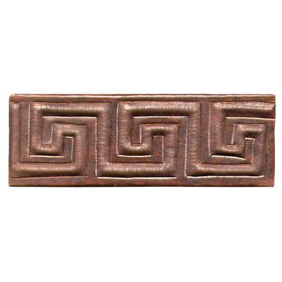 "D'Vontz Greek Band 6"" x 2"" Copper Border Tile in Dark Copper"