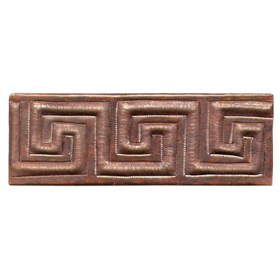 "D'Vontz Greek Band 2"" x 6"" Copper Border Tile"