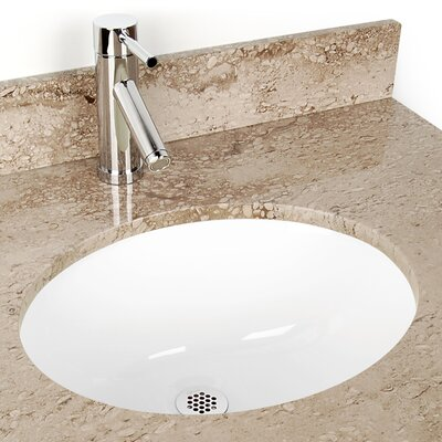 Small Oval China Bathroom Sink - DV-H105