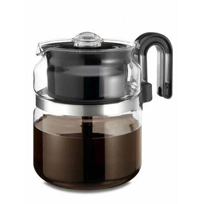 Medelco, Inc. 8 Cup Stovetop Glass Percolator