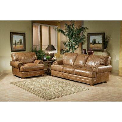Omnia Furniture Houston Leather Sofa