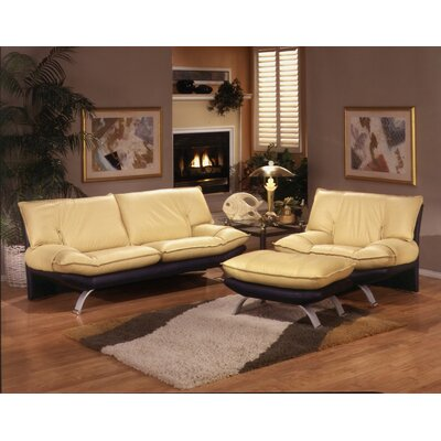 Princeton Leather Living Room Set Wayfair