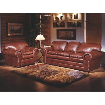 Torre 3 Seat Leather Living Room Set