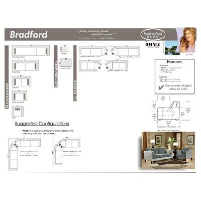Omnia Furniture Bradford Leather Loveseat