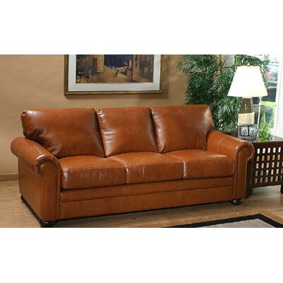 Omnia Furniture Georgia Leather Loveseat