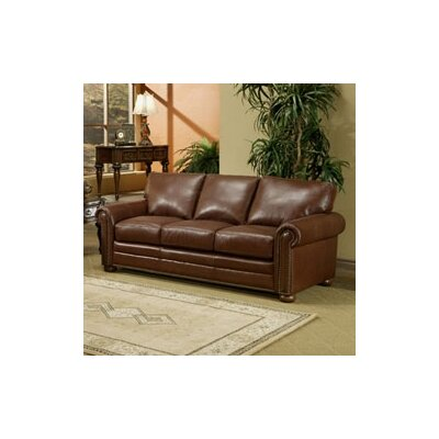 Omnia Furniture Savannah Leather Full Sleeper Sofa