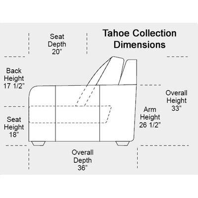 Omnia Furniture Tahoe Leather Sofa