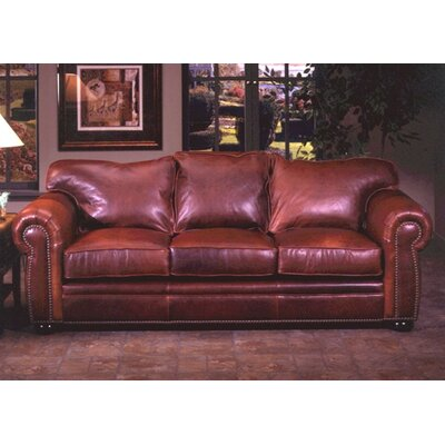 Omnia Furniture Monte Carlo Leather Queen Sleeper Sofa