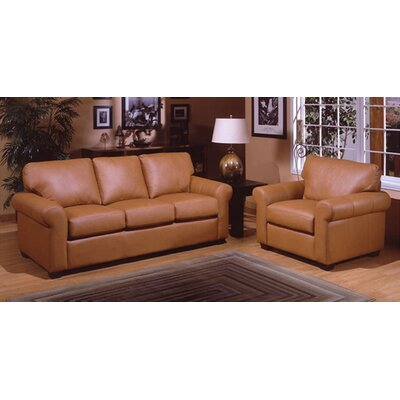 West Point Leather 3 Seat Sofa Living Room Set