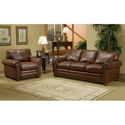 omnia furniture savannah leather 3 seat sofa living room set