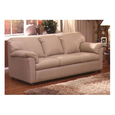 Omnia Furniture Tahoe Full Leather Sleeper Sofa