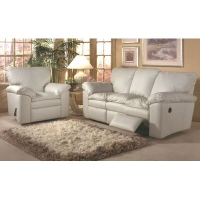 Omnia Furniture El Dorado Leather Sleeper Sofa Living Room Set