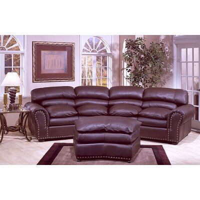 Omnia Furniture Williamsburg Leather Convertible Sofa