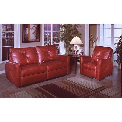 omnia furniture bahama leather living room set