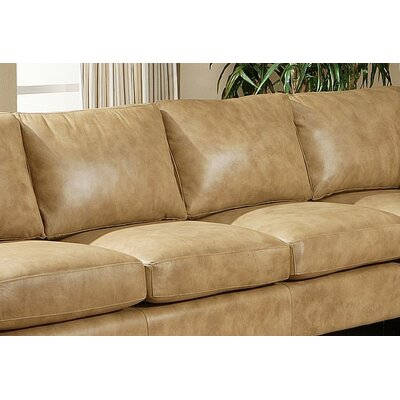 Omnia Furniture City Sleek Leather Sofa