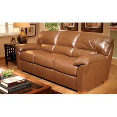 Omnia Furniture Cedar Heights 3 Seat Leather Sofa Set