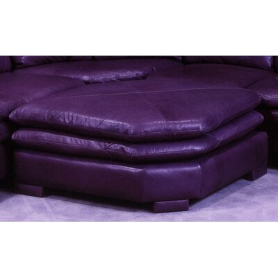 Omnia Furniture Fargo Leather Ottoman