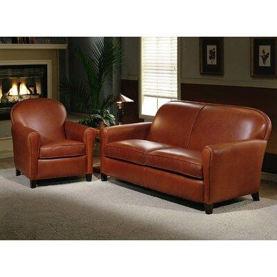 Omnia Furniture Buenos Aires 2 Seat Leather Sofa Set