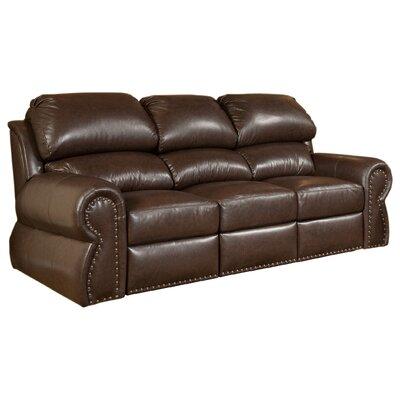 Omnia Furniture Cordova Full Leather Sleeper Sofa