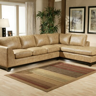 City Sleek Leather Sectional