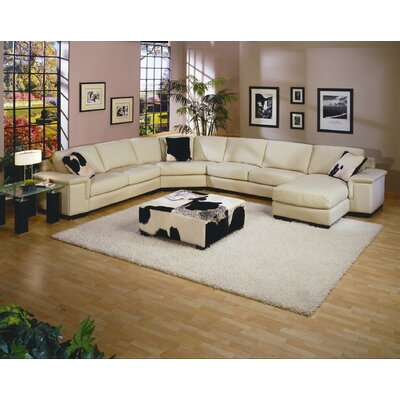 Omnia Furniture Mercedes Leather Sectional