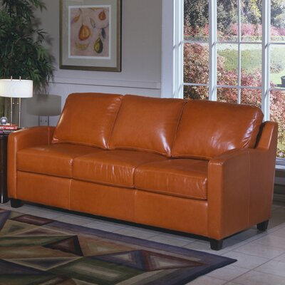 Omnia Furniture Chelsea Deco Leather Sleeper Sofa
