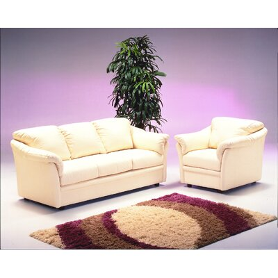 Omnia Furniture Salerno 3 Seat Leather Living Room Set