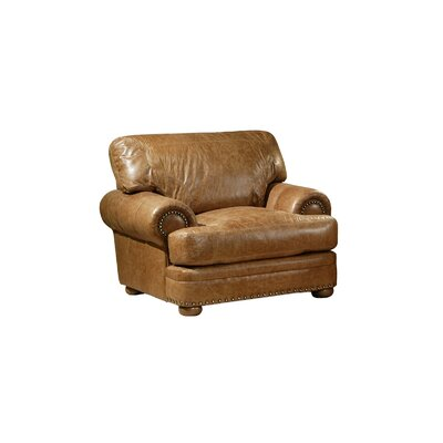 Omnia furniture houston leather chair amp reviews wayfair