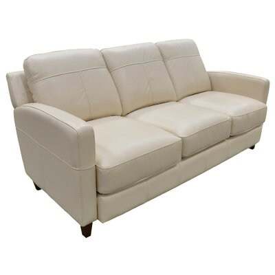 Omnia Furniture Skyline Leather Sofa amp Reviews Wayfair