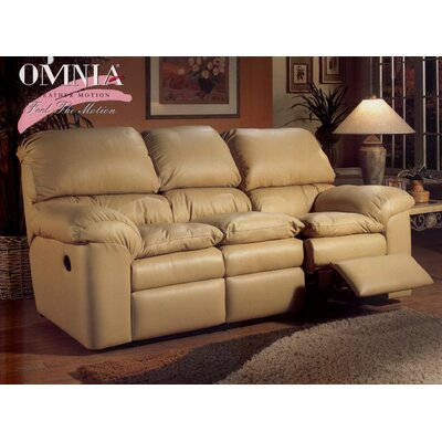 Omnia Furniture Cordova Leather Reclining Sofa