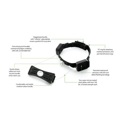 Supercollar Collar with Built-in Retractable Leash