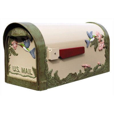 Special Lite Products Humingbird Curbside Post Mounted Mailbox in Natural
