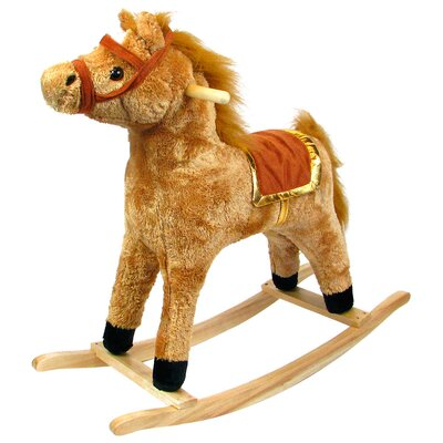 Horse Plush Rocking with Wooden Base