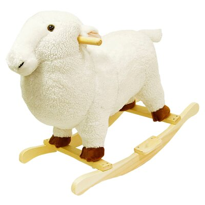 <strong>Happy Trails</strong> Lamb Plush Rocking Animal