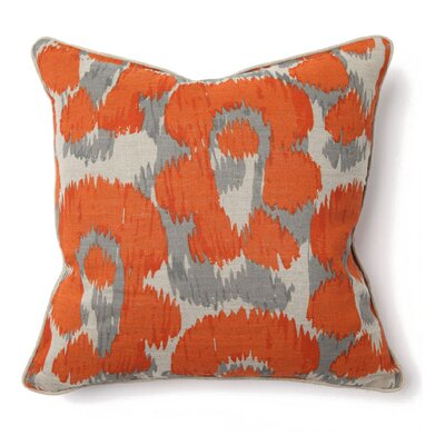 Villa Home African Mod Leopard Print Pillow in Orange