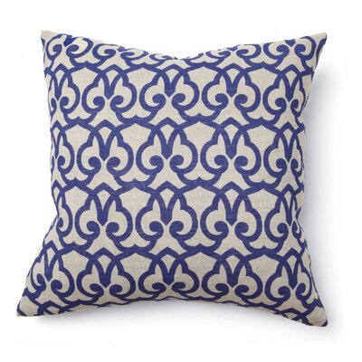 Villa Home Full Bloom London Print Pillow in Blue