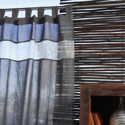 Villa Home Biella Cotton Tab Top Curtain Single Panel