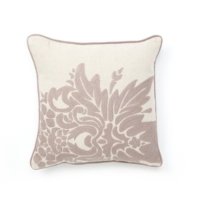 Villa Home Illusion Flora Pillow in Purple Embroidered