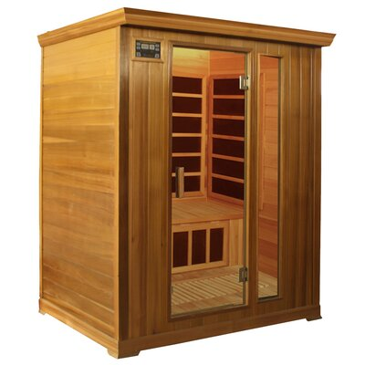 Crystal Sauna Family Series 3 Person Carbon FAR Infrared Sauna