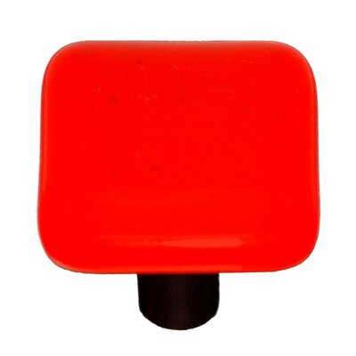 Solids Cabinet Knob in Transparent Orange